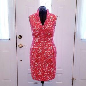 Jessica Howard Deep Coral-Orange Floral Dress 10